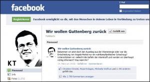 Blitzschnell verstummt: die Fan-Seite von Karl-Theodor zu Guttenberg