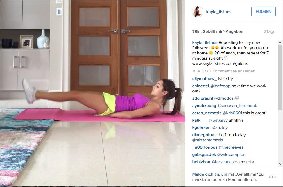 Fitness und Emojis mit Kayla Itsines